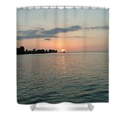 City Pier Holmes Beach Bradenton Florida Shower Curtain
