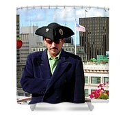 City Pirate Shower Curtain