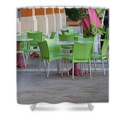 City Place Seats Shower Curtain