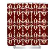 City Red Shower Curtain