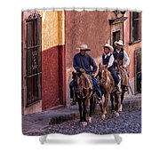 City Riding Shower Curtain