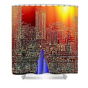 City Sailin Shower Curtain