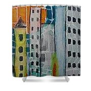 City Scape Shower Curtain