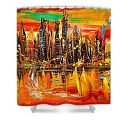 City Sky Shower Curtain