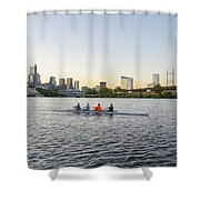 City Skyline - Philadelphia On The Schuylkill River Shower Curtain