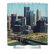 City Skyline-pittsburg Shower Curtain