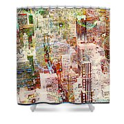 City Snowstorm Shower Curtain