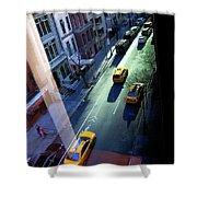 City Street Aerial New York Shower Curtain