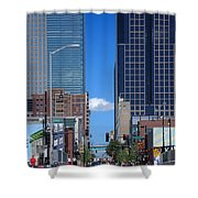 City Street Canyon Shower Curtain by Steve Karol