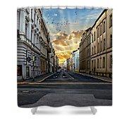 City Street View Shower Curtain