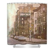 City Streets In Grunge 2 Shower Curtain