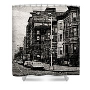 City Streets In Grunge Shower Curtain