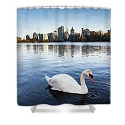 City Swan Shower Curtain