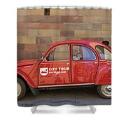 City Tour Car Strasbourg France Shower Curtain