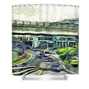 City Traffic Shower Curtain