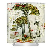 City Trees Shower Curtain