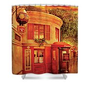 City - Vegas - Paris - Vins Detable Shower Curtain by Mike Savad