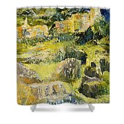 City View From The Sea Shower Curtain