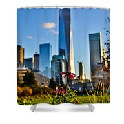 City Vs Nature Shower Curtain