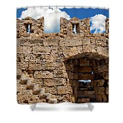 City Walls Of Rhodes Shower Curtain