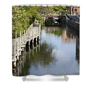 City Waterway Shower Curtain