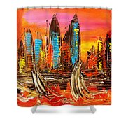 Cityny Shower Curtain