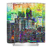 Cityscape Art City Optimist Shower Curtain