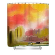Cityscape Shower Curtain