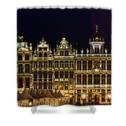 Cityscape In Brussels Europe - Landmark Of Brussels, Belgium Shower Curtain