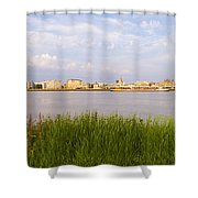 Cityscape Of Antwerp Shower Curtain