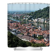 Cityscape  Of Heidelberg In Germany Shower Curtain