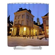 Cityscape Of Utrecht In The Evening At Pausdam 5 Shower Curtain