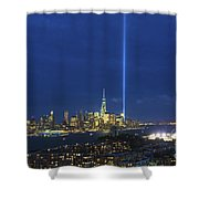 Cityscape Tribute In Lights Nyc Shower Curtain