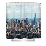 Cityscape View Of Manhattan, New York City. Shower Curtain