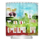 Ciudad 4 Shower Curtain