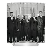 Civil Rights Leaders And President Kennedy 1963 Shower Curtain