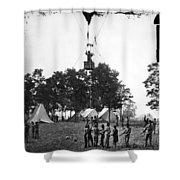 Civil War: Balloon, 1862 Shower Curtain