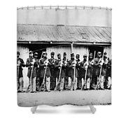 Civil War: Black Troops Shower Curtain by Granger