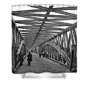 Civil War - Chain Bridge Shower Curtain by William Morris Smith