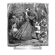 Civil War: Christmas Shower Curtain by Granger