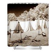 Civil War Encampment - Infrared Shower Curtain