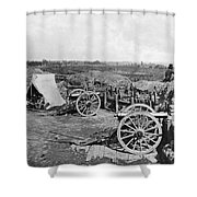 Civil War: Fortifications Shower Curtain