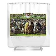 Civil War Generals And Statesman With Names Shower Curtain