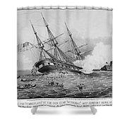 Civil War: Merrimac (1862) Shower Curtain