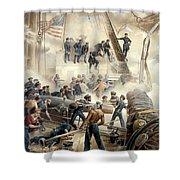 Civil War Naval Battle Shower Curtain