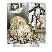 Civil War Pensions, 1888 Shower Curtain