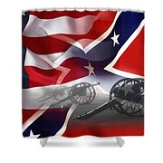 Civil War Silent Cannons Shower Curtain