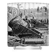 Civil War: Union Mortars Shower Curtain