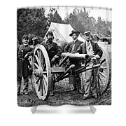 Civil War: Union Officers Shower Curtain