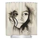 Claire Black And White Shower Curtain